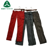 wholesale bales recycling adult cargo long pants used clothes for sale
